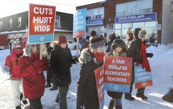 حكومة اونتاريو انفقت 7 مليون تعويضات للأهالي بسبب اضراب المعلمين