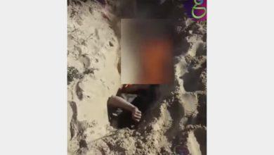 صورة غضب بمواقع التواصل عقب نشر تسريب لضابط ينكّل بجثة شاب سيناوي
