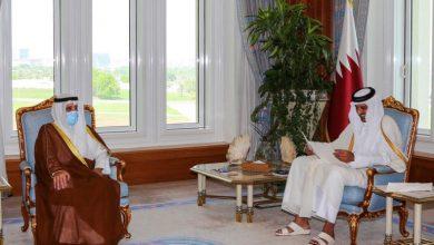 صورة أمير قطر يتلقى رسالة من ولي عهد الكويت