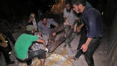 صورة إدلب.. 78 قتيلاً بغارات روسية