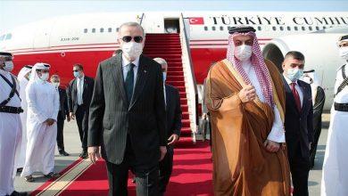صورة الرئيس أردوغان يصل العاصمة القطرية في زيارة رسمية