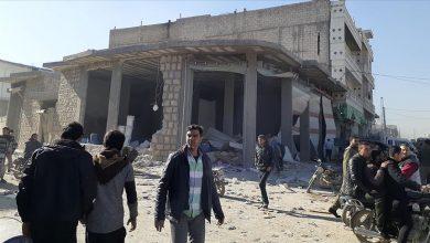 صورة مقتل مدني في تفجير إرهابي بمدينة عفرين السورية