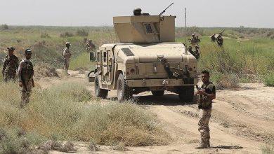 صورة انفجار عبوة ناسفة في رتل امدادات للتحالف الدولي جنوبي العراق