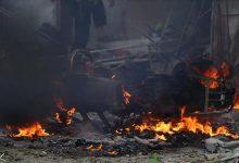 صورة تفجير يستهدف رتل إمدادات للتحالف الدولي جنوبي العراق