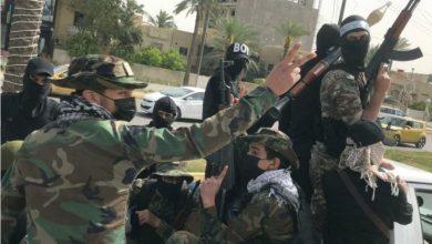 صورة ميليشيا جديدة تهدد وتستعرض ببغداد..