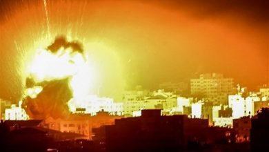 صورة غارات إسرائيلية عنيفة على قطاع غزة