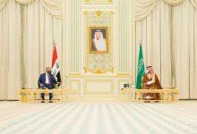 صورة جلسة مباحثات بين محمد بن سلمان والكاظمي في الرياض