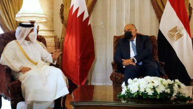 صورة وزير خارجية قطر في القاهرة لبحث العلاقات الثنائية بعد المصالحة الخليجية