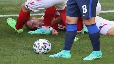 صورة سقوط كريستيان إريكسن.. كيف أُنقذ لاعب منتخب الدنمارك من الموت؟!