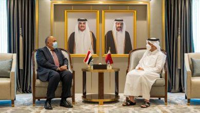 صورة مباحثات ثنائية بين مصر وقطر برئاسة وزيري خارجية البلدين