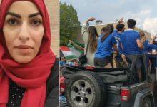 صورة أبناء الجالية غاضبون … ما الفرق بين مظاهرة دعم فلسطين و إحتفالات كرة القدم؟