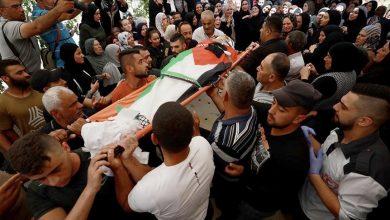 صورة تشييع جثمان فلسطيني قتله جيش الإحتلال الإسرائيلي