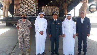 صورة قطر: طائرة من قواتنا الجوية حطت في مطار بيروت محملة 70 طنا من المواد الغذائية مساعدات للجيش اللبناني
