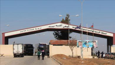 """صورة أُغلق إثر تطورات درعا.. الأردن يقرر فتح """"معبر جابر"""" مع سوريا"""