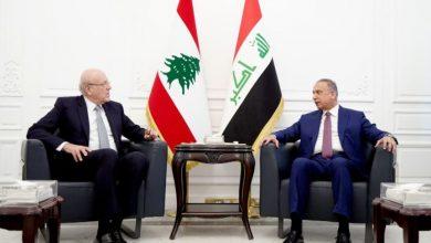صورة ميقاتي يبدأ محادثات رسمية مع نظيره العراقي في بغداد