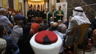 صورة آلاف الفلسطينيين يحيون ذكرى المولد النبوي في المسجد الإبراهيمي