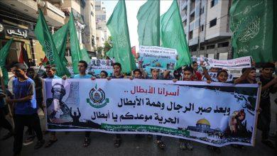 صورة أطفال غزة يتضامنون مع الأسرى المضربين عن الطعام